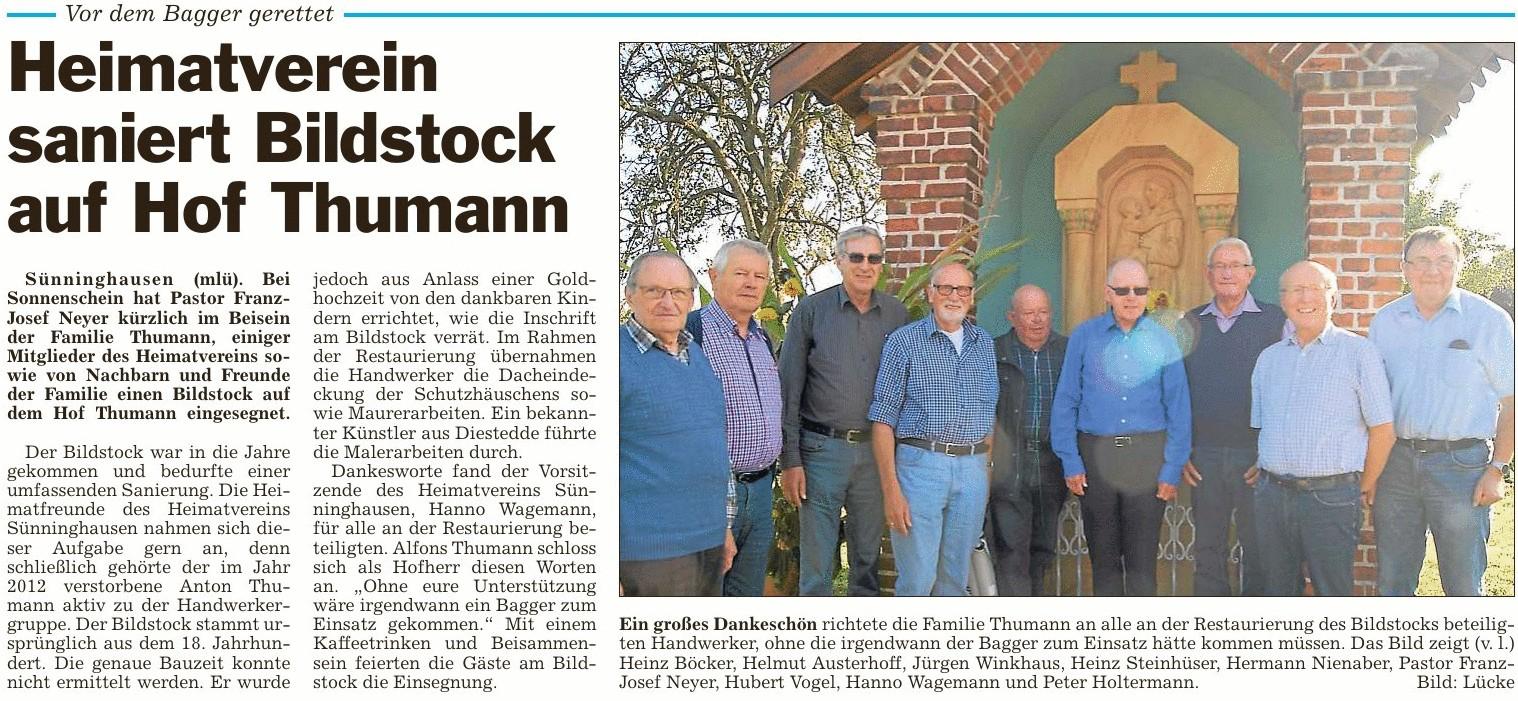 Bildstock Hof Thumann