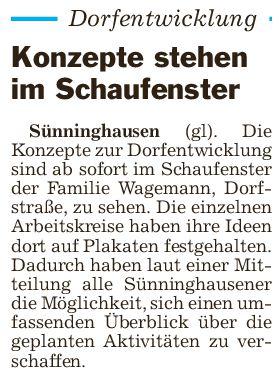 Veröffentlichung der DEK Plakate Sünninghausen
