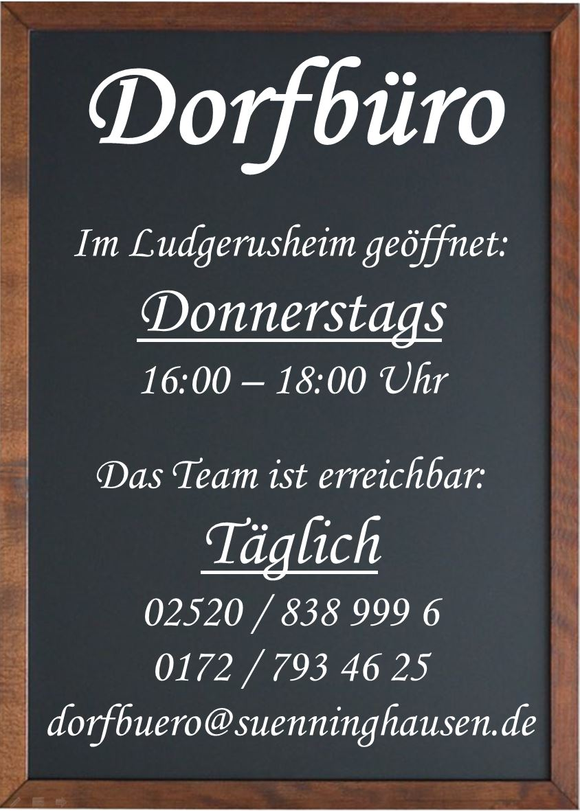 Kontaktdaten - Dorfbüro Sünninghausen