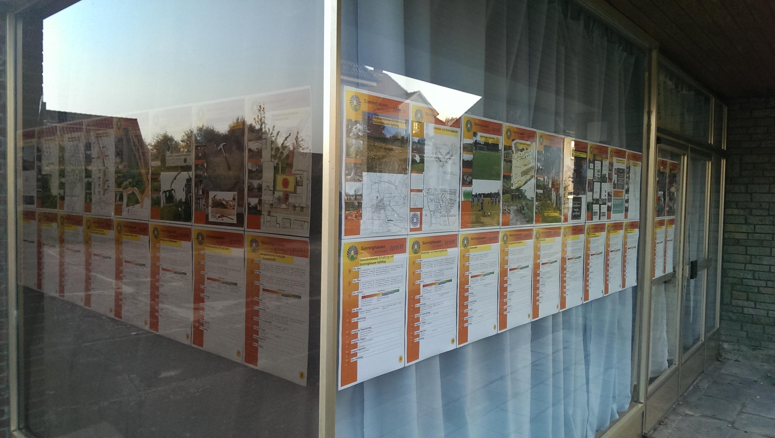Plakate des DEK - Dorfentwicklungskonzepts