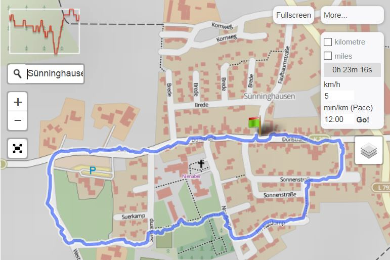 Sünninghausen Wanderweg 1.2 (Quelle: GPSies.com)