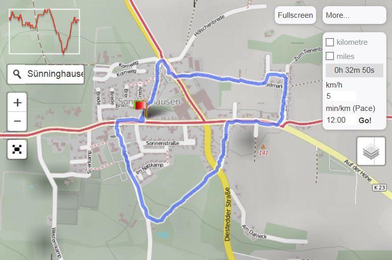 Sünninghausen Wanderweg 3.1 (Quelle: GPSies.com)