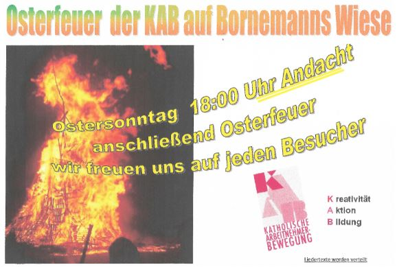 Osterfeuer 2019 in Sünninghausen